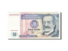 Peru, 10 Intis, 1985-1991, KM:129, 1987-06-26, SUP+ - Perú
