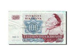 Suède, 100 Kronor, 1965-1985, KM:54c, 1980, TTB - Suède