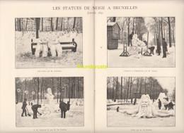 LES STATUES DE NEIGE A BRUXELLES 1892 DARDENNE TOMBAY   ** ASSOCIATION BELGE DE PHOTOGRAPHIE PHOTOTYPE PHOTOTYPIE - Repro's