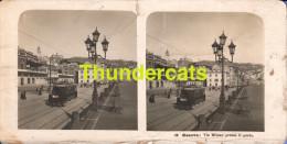 PHOTO STEREO STEREOSCOPIQUE 1905  GENOVA VIA MILANO PRESSO PORTO TRAIN - Photos Stéréoscopiques