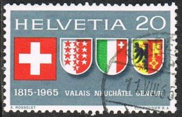 Switzerland SG724 Entry Into Confederation 20c Good/fine Used - Stamps