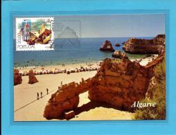 Portimão - Praia Da Rocha - Mostra Filatélica Do Tema Turismo - 17.09.1980 - PORTUGAL - CARTE MAXIMUM - MAXICARD - Tarjetas – Máximo