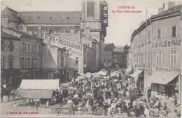 54 - LUNÉVILLE - Meurthe-et-Moselle - La Place Saint-Jacques - Jour De Marché - Luneville