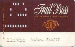 Pioneer Hotel & Gambling Hall Laughlin NV - Trail Boss Level Slot Card - Casino Cards