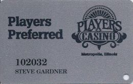 Players Casino Metropolis IL - 3rd Issue Slot Card With 11mm Mag Stripe - Casino Cards