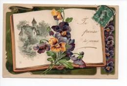 Je Pense à Vous / Illustrateur / Gaufrée - Mignon De Epernay - 1908 - Andere