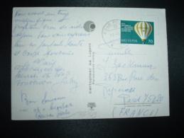 CP Pour France TP SUISSE ESPERANTO 70 OBL.13 8 79 PORZA + MONTGOLFIERE - Esperanto