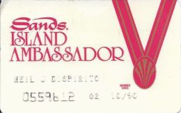 Sands Casino Atlantic City NJ - 5th Issue White Island Ambassador Card - Casino Cards