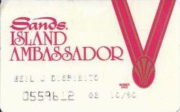 Sands Casino Atlantic City NJ - 5th Issue White Island Ambassador Slot Card - Casino Cards