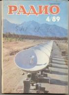 Magazine Radio № 4  For 1989 - Russia - Monthly Magazine In Russian - Literature & Schemes