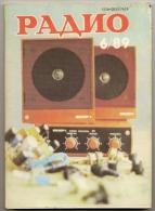 Radio Journal  № 6 For 1989 - Monthly Radio Engineering Journal In Russian. - Literature & Schemes