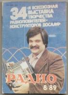 Radio Journal  № 8 For 1989 - Monthly Radio Engineering Journal In Russian. - Literature & Schemes
