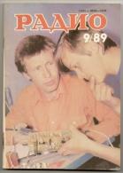 Radio Journal  № 9 For 1989 - Monthly Radio Engineering Journal In Russian. - Literature & Schemes