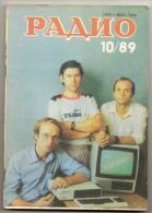 Radio Journal  № 10 For 1989 - Monthly Radio Engineering Journal In Russian. - Literature & Schemes