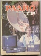 Radio Journal  № 11 For 1989 - Monthly Radio Engineering Journal In Russian. - Literature & Schemes