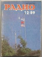 Radio Journal  № 12 For 1989 - Monthly Radio Engineering Journal In Russian. - Literature & Schemes