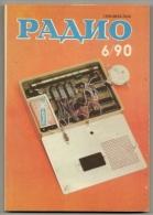Radio Journal  № 6 For 1990 - Monthly Radio Engineering Journal In Russian. - Literature & Schemes