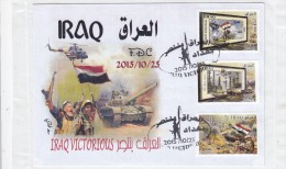 Iraq New Issue 2015, Town Liberated From Terrorism, 3 Stamps Compl Set On Official Illuystr.FDC- Limited- Fine Conditi - Irak
