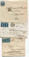 Ambulant   N°976 BREST A PARIS  Sur 10  Env. De 1858 à 1872 (2 Scans) - Marcophilie (Lettres)