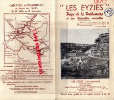 24 - LES EYZIES - DORDOGNE- 1925- GROTTE DU GRAND ROC- CARPE DIEM- VALLEE VEZERE - BEUNE- - Dépliants Touristiques