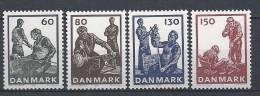 Danemark 1976 Série Neuve**  N° 632/635 Industrie Du Verre - Ungebraucht