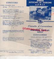 24 - PERIGUEUX-SOUILLAC- SARLAT- DEPLIANT AUTOCARS TOURISME SNCF- 1949-LES EYZIES-LASCAUX-LACAVE DORDOGNE-PADIRAC - Dépliants Touristiques
