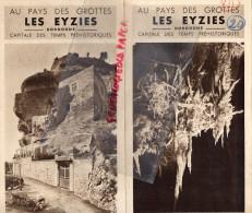 24 - LES EYZIES - DEPLIANT TOURISTIQUE- HOTEL LESVIGNES DUCLAUD- LES GLYCINES- HOTEL CRO-MAGNON- ANNEES 40 - Dépliants Touristiques