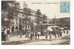MCS1- MONACO  La Place  Du Marché (animée - Kiosque) - La Condamine