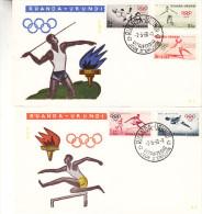 Jeux Olympiques - Football -) Athlétisme - Lancement Du Javelot Et Disque - Saut En Hauteur - Ruanda - Document De 1960 - Ruanda-Urundi