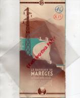 19 - BARRAGE DE MAREGES -GORGES DORDOGNE- DEPLIANT SNCF- 1939-USSEL-BORT -NEUVIC-LAPLEAU- - Dépliants Touristiques