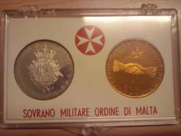 SMOM 1968 Coppia Di Monete Da 3 Scudi (argento) E 2 Tarì (bronzo) S.M.O.M. SOVRANO MILITARE ORDINE DI MALTA - Malte (Ordre De)
