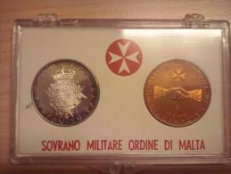SMOM 1969 Coppia Di Monete Da 9 Tarì (argento) E 10 Grani (bronzo) S.M.O.M. SOVRANO MILITARE ORDINE DI MALTA - Malte (Ordre De)