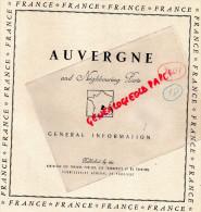 63- 03-43-15- CLERMONT FERRAND-VICHY-SAINT NECTAIRE-BOURBOULE-LE PUY-AURILLAC-BRIOUDE-ISSOIRE-1949 - Dépliants Touristiques