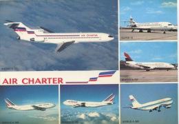 Air Charter Multivues Boeing B 727 B 737 B 747 Super 10 Airbus A 300 (air France Et Inter) N°486B PI - Flugzeuge