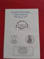 PUB EXPOSITION   CLUB PHILATELIQUE GAUMAIS     CACHET TINTIN ET SES AMIS - Livres, BD, Revues