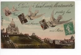 Paris Du Sacré Coeur De Montmartre - Noms Sur La CP = Diné De Sézanne - 1914 - Zonder Classificatie