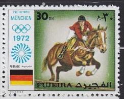 1972 Fujairah Fujairah Fujeira  ** MNH �quitation horse riding Reiten Pferd H�pica [DL15]