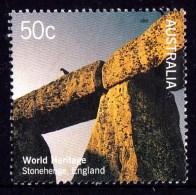 Australia 2005 World Heritage 50c Stonehenge, England Used - 2010-... Elizabeth II
