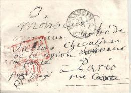 """Lettre De """"MANNHEIM"""" De 1835 - Marque D'Entrée ALLEMAGNE Par STRASBOURG - AED - PP - Marcophilie (Lettres)"""