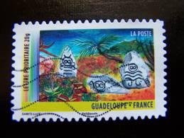 OBLITERE FRANCE ANNEE 2011 N° 636 SERIE DU CARNET OUTRE MER LA GUADELOUPE AUTOCOLLANT ADHESIF - France