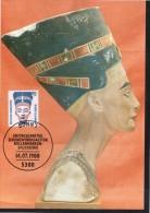 ALLEMAGNE  BERLIN   Carte Maxi Cachet  1er Jour  1988  Poste Egypte Pharaon - Egyptology