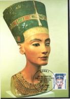 ALLEMAGNE  BERLIN   Carte Maxi  1989  Egypte Pharaon Nefertiti - Egyptologie