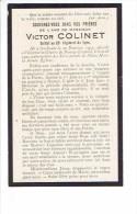 Souvenir Mortuaire GOCHENEE - BOURG-LEOPOLD 1901 - 1922 Victor COLINET Soldat Au 20e Régiment De Ligne - Overlijden