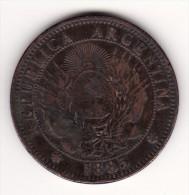 République ARGENTINE 1885 -- 2 Centimes -- Dos Centavos -- Très Belle Patine - Argentine