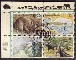 Nations Unies New York   1993 -  Y&T 628/631  -  Espèces Menacées  -  Obliteration CITES - Used Stamps