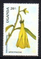 OUGANDA - UGANDA - FLEURS - FLOWERS - THEVETICA PERUVIANA - 1988 - - Uganda (1962-...)