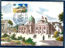 ALLEMAGNE  BERLIN   Carte Maxi Cachet  1er Jour  1988 Observatoire - Astronomie