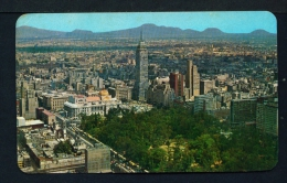 MEXICO  -  Mexico City  Aerial View Of The Centre  Unused Vintage Postcard As Scan - Mexico