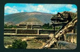 MEXICO  -  San Juan Teotihuacan  Temple Of Quetzalcoatl  Unused Vintage Postcard As Scan - Mexico