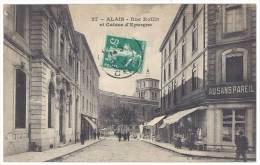 Alais / Alès - Rue Rollin Et Caisse D'Epargne - Alès